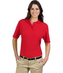 otto ladies' 5.6 oz. pique knit sport shirts red (l)