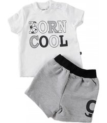 conjunto born cool gris little foot