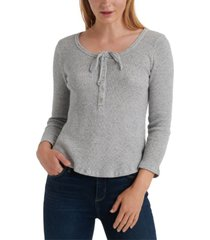 lucky brand 3/4-sleeve thermal top