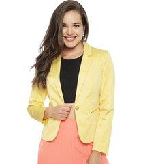 blazer io amarillo - calce ajustado