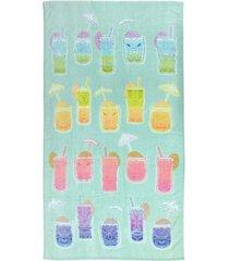 martha stewart collection tiki velour beach towel, created for macy's bedding