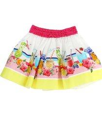 monnalisa summer party print skirt
