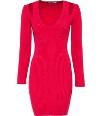 abito in maglia con cut-out (fucsia) - bodyflirt boutique