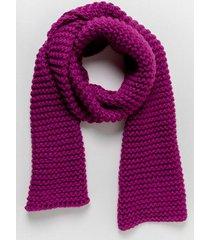 kim chunky knit oblong scarf - fuchsia