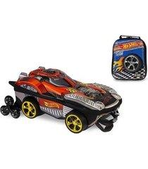 kit mochila hot wheels dune a soar 3d com rodinhas+ lancheira maxtoy