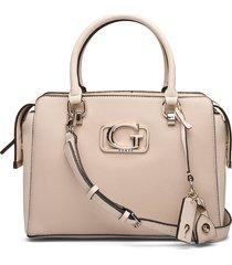 annarita girlfriend satchel bags top handle bags beige guess