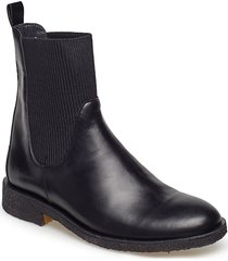 7317 shoes boots chelsea boots ankle boots flat heel svart angulus