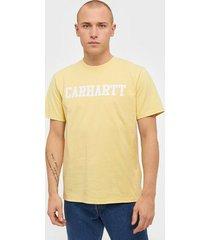 carhartt wip s/s college t-shirt t-shirts & linnen yellow