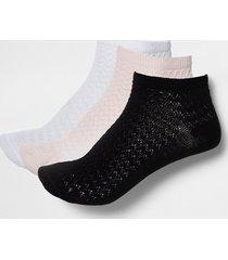 river island womens multicoloured trainer socks pack of 3