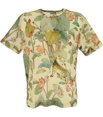etro tiger and water lily t-shirt