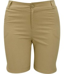 shorts pau a pique bege