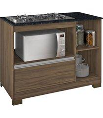 balcão cooktop nogal trend/gran notável móveis