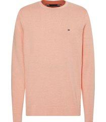 tommy hilfiger pullover roze regular fit mw0mw17349/tlr