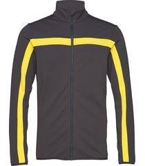 kimball jarvis jacket-brushed sweat-shirt trui zwart j. lindeberg ski