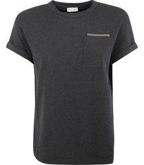 brunello cucinelli chest patch pocket t-shirt