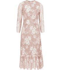 spetsklänning vikrissa 3/4 midi dress