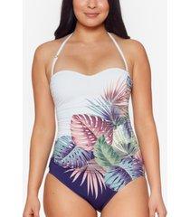 bleu by rod beattie it's a breeze bandeau one-piece swimsuit women's swimsuit