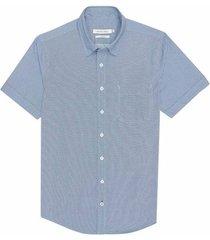 camisa casual manga corta estampada slim fit para hombre 94304