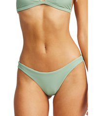 billabong tanlines tanga bikini bottoms, size x-large in safari green at nordstrom