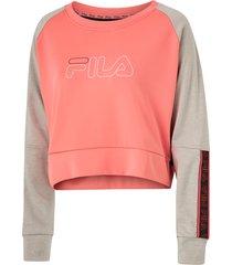 sweatshirt women ahuva cropped longsleeve shirt