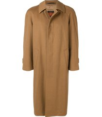 a.n.g.e.l.o. vintage cult 1970s long car coat - brown
