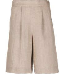 peserico relaxed safari shorts - neutrals