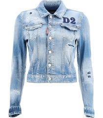 dsquared2 denim jacket with d2 patch