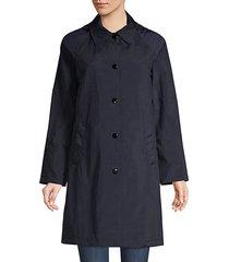 mixed media trench coat