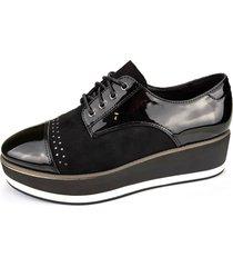 zapato oxford gate negro chalada