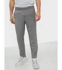 filippa k m. terry cropped trouser byxor medium grey melange