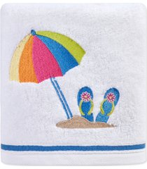 "martha stewart collection beach scene 16"" x 28"" hand towel, created for macy's bedding"