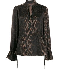 steffen schraut luxury animal blouse - neutrals