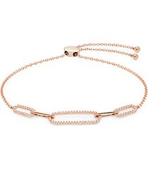14k rose gold & diamond bolo bracelet