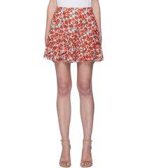 'sherley' floral print ruffled mini skirt