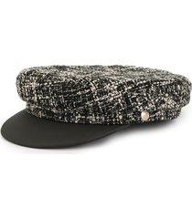 manokhi x toukitsou greek fisherman tweed hat - black