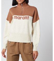 isabel marant étoile women's linn sweatshirt - camel - fr 36/uk 8
