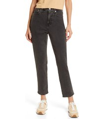 women's madewell the curvy perfect vintage jeans, size 27 - black