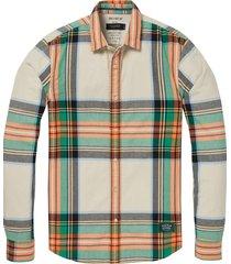 regular fit flanel shirt