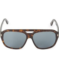 61mm tortoiseshell aviator sunglasses