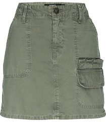 hudson women's hunter mini cargo skirt - military olive - size 25 (2)