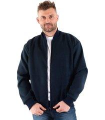 jaqueta konciny tecido lisa azul marinho