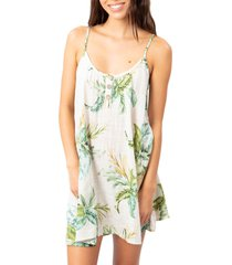 women's rip curl palmetto cotton cover-up dress, size medium - ivory
