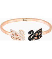bracciale rigido facet swan, multicolore, mix di placcature