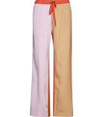 aileen, 467 heavy silk wijde broek roze stine goya