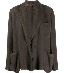 lanvin pre-owned 2003 loose-fit jacket - brown