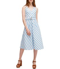 deck stripe sleeveless dress