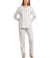 seidensticker interlock women pyjama button tab