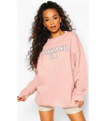 petite oversized oakland sweater, roze