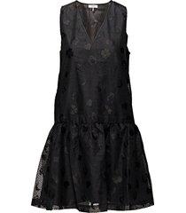hamilton lace korte jurk zwart ganni