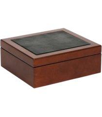 mele co. wyatt men's wooden dresser top valet